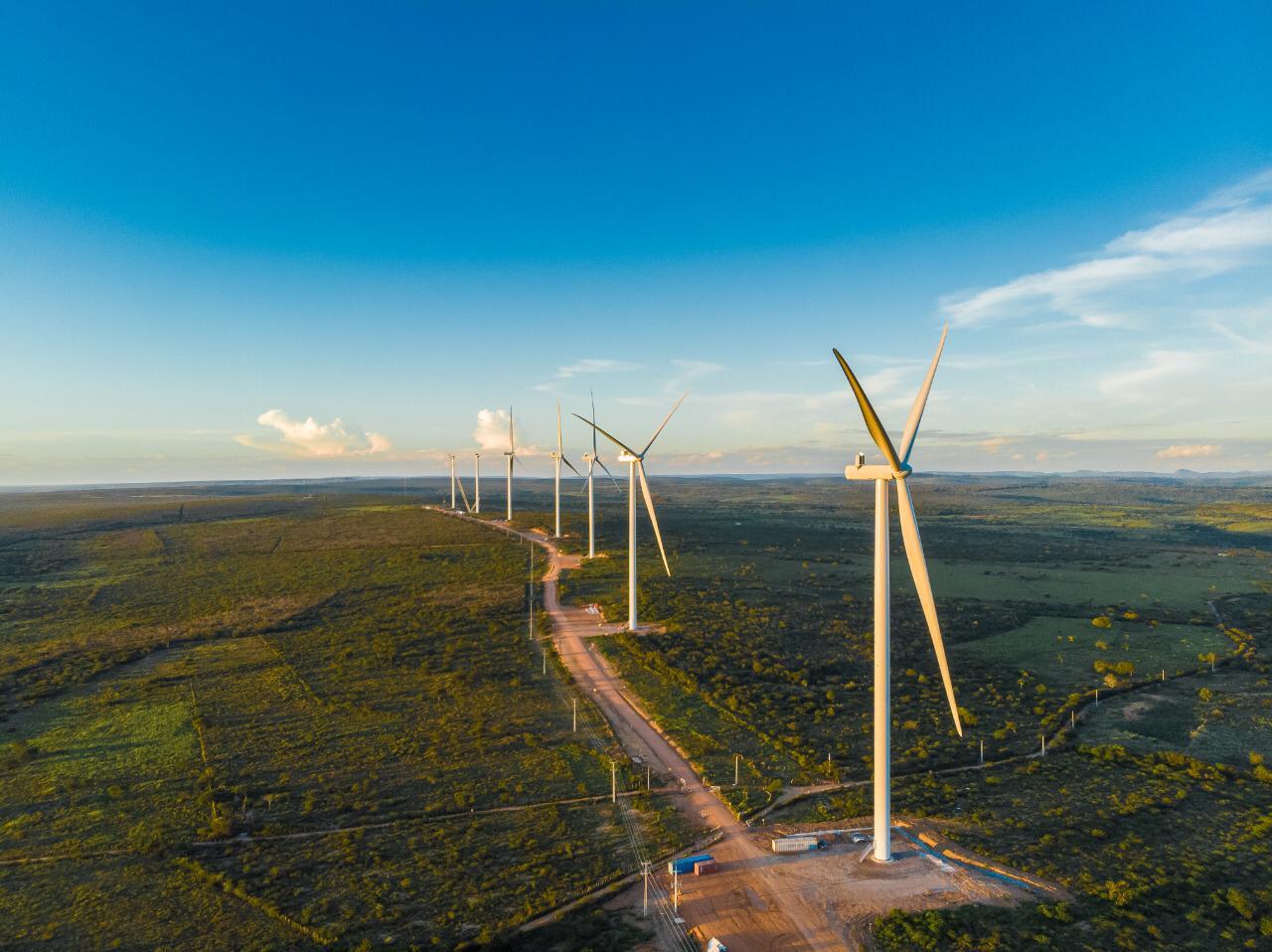 Parque eólico Folha Larga Sul - Casa dos Ventos - Bahia