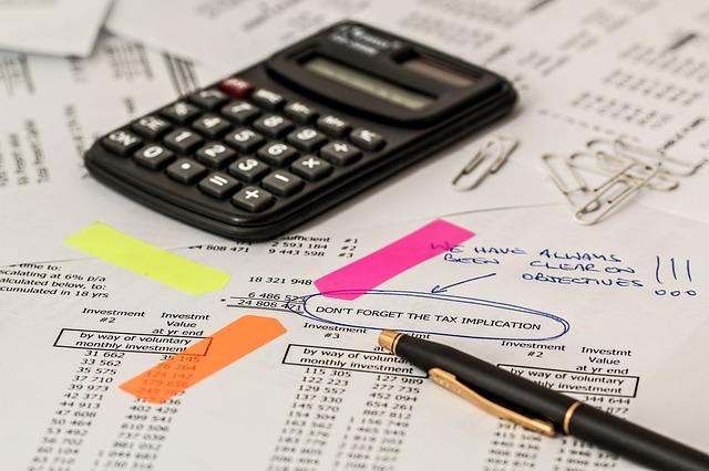 Cálculo, contabilidade, contas, finanças, tarifas, custos