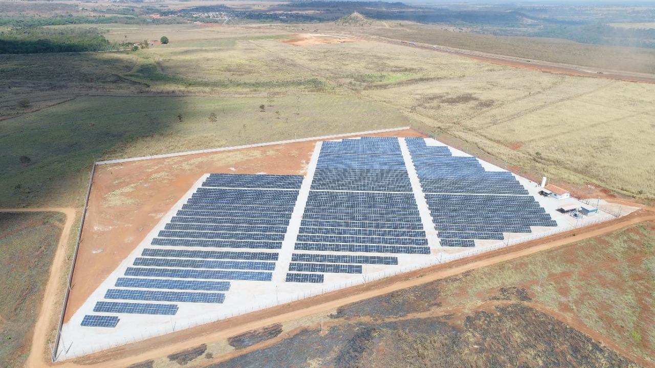 Usina solar do grupo Gazin, construída pela Domínio Solar